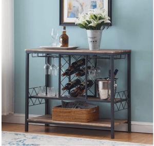 O&K Furniture Industrial Wine Rack Holds