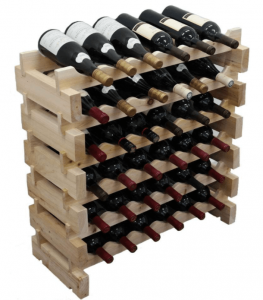 Wine Rack Pine Wood Stackable