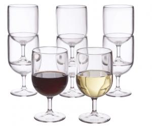 Stасkаblе 8-оunсе Plastic Wine Stеmѕ